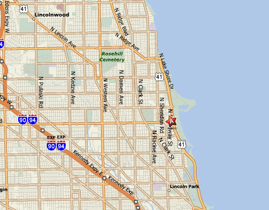 Google Chicago Map